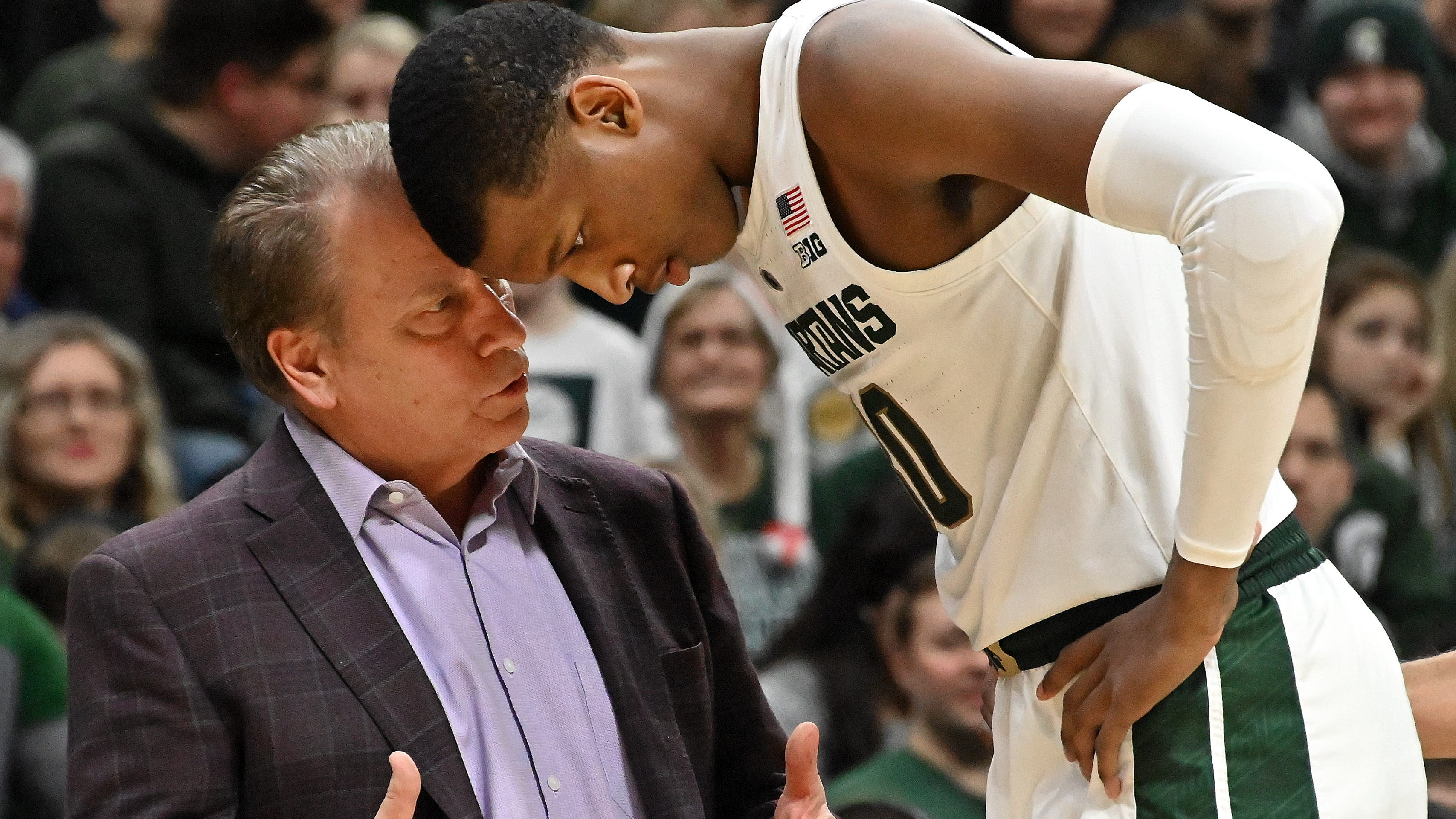Michigan State basketball coach Tom Izzo has pushed his team in practice this week.