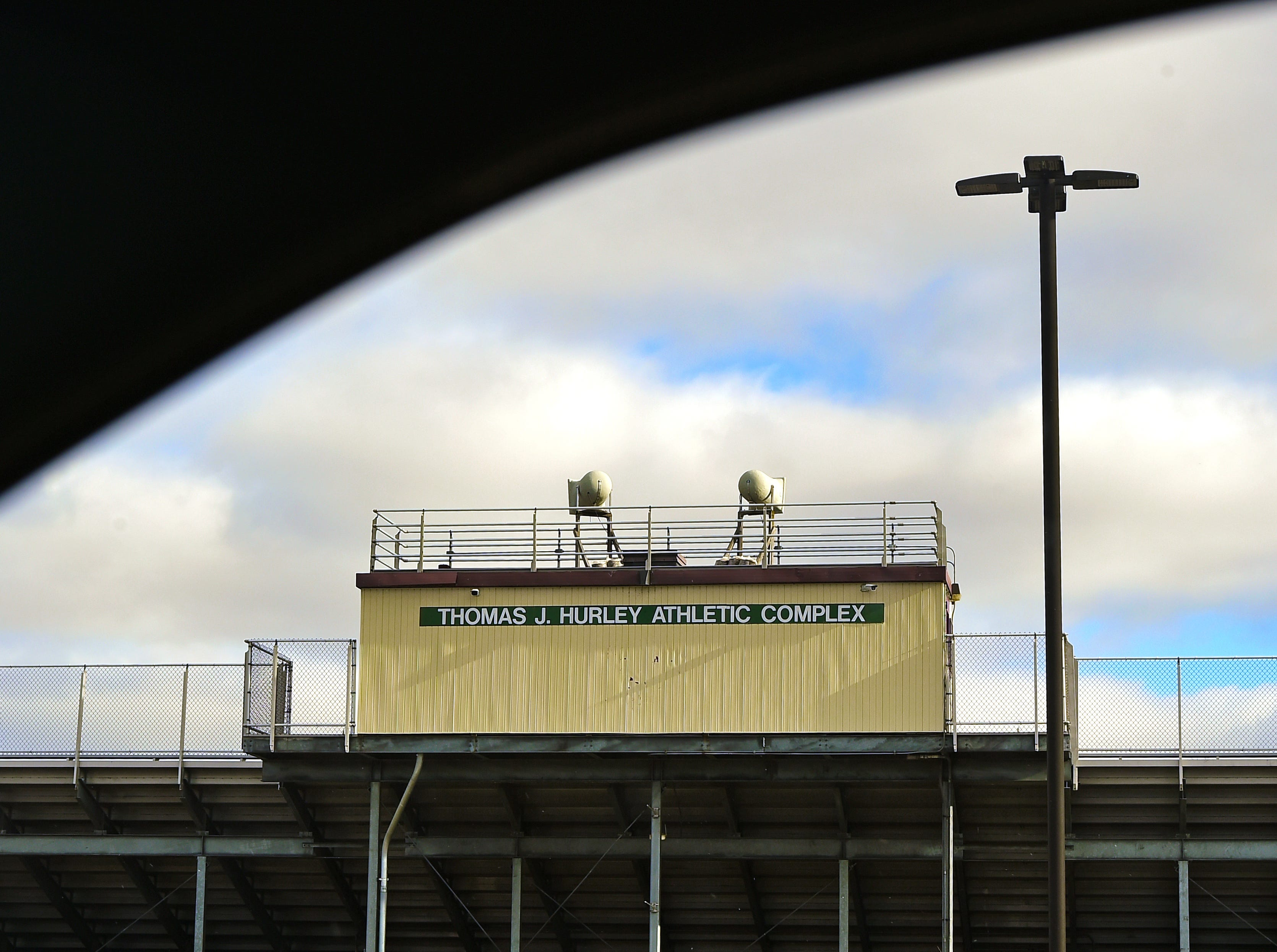 The Thomas J. Hurley Athletic Complex at Elmira High School. Testing revealed that the athletic field has high levels of polychlorinated biphenyls, or PCBs, which are known carcinogens. December 18, 2018.