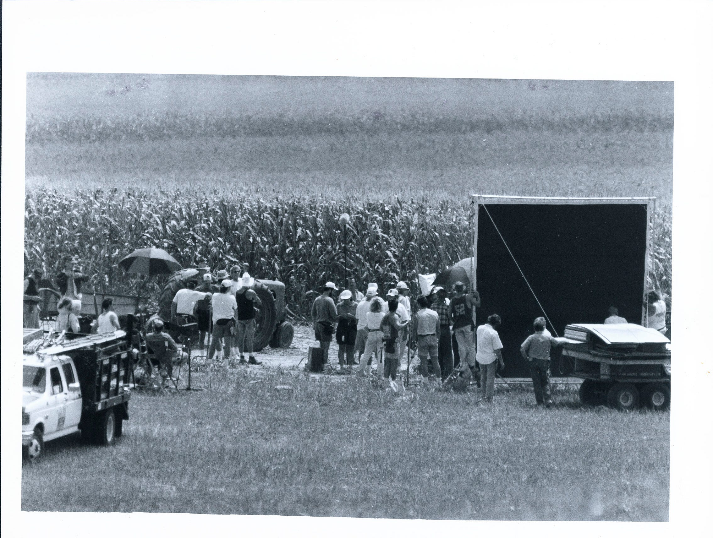 "The crew of ""A League of Their Own"" began filming at a farmhouse on St. Philips Road in Posey County."