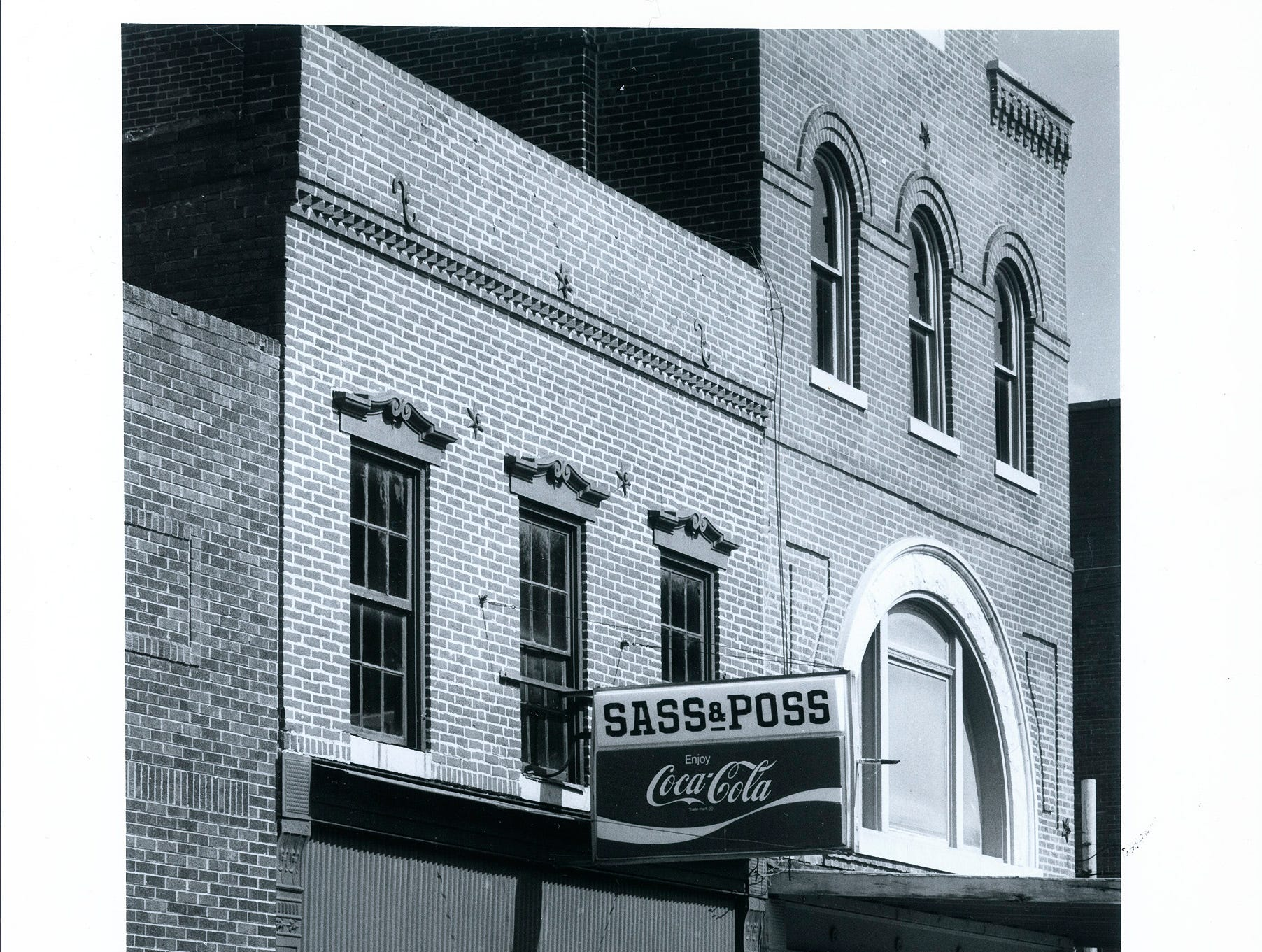 The Sass & Poss tavern on Main Street in New Harmony.
