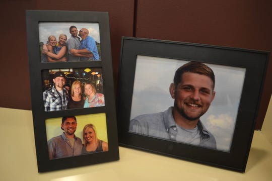 Photos of Joey Silcox, his mother Lavin Schwan, his stepfather Tom Schwan, and his sister Jenna Molyet in happier days. Joey died of a heroin overdose on Nov. 12, 2016.