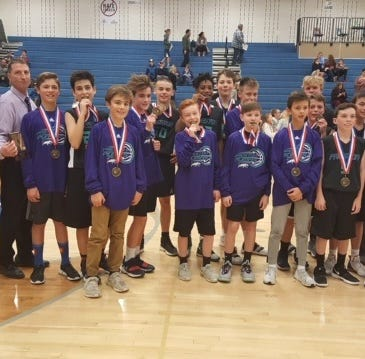 Preston Middle School seventh grade team wins district basketball title