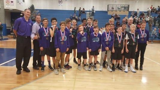 Preston Middle School boys basketball