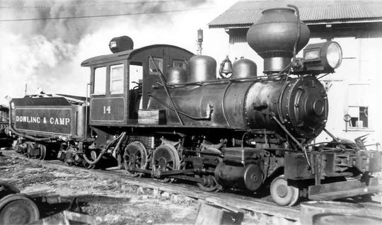 Locomotives like this one brought the timber into the mill.