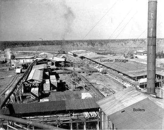 The Slater lumber mill. Courtesy of Donald R. Hensley Jr. (www.taplines.net)