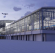 Concept sketch, from an airside perspective, of an expanded terminal at Southwest Florida International Airport, as envisioned in late 2018.