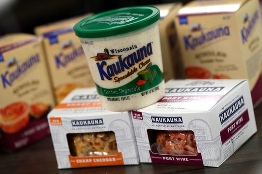 A variety of Kaukauna Cheese products produced by Bel Brands USA include new products like individual cups of spreadable cheese and a no artificial additives version of the cheese balls.