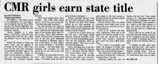 The CMR Rustlers won their third state championship in 1986. It remains the program's last state title.