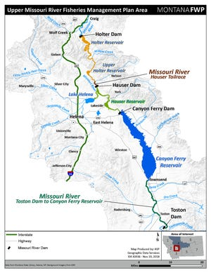 Montana Fish, Wildlife and Parks is working on management plan for the Missouri River from Toston to Holter dams.