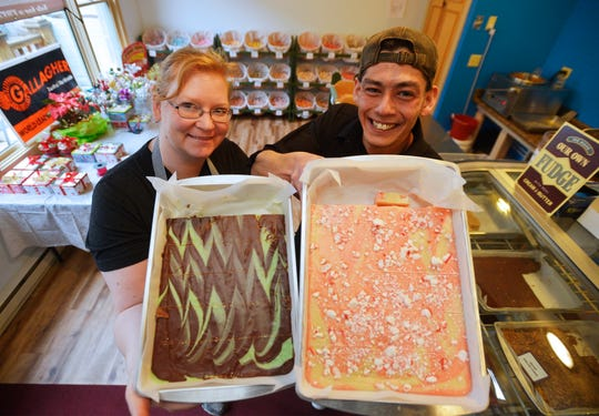 Roger and Amanda Reeves are owners of the Nutty Korean, a new candy store in Fort Benton. They specialize in homemade fudge and roasted nuts, and carry candy and taffy as well