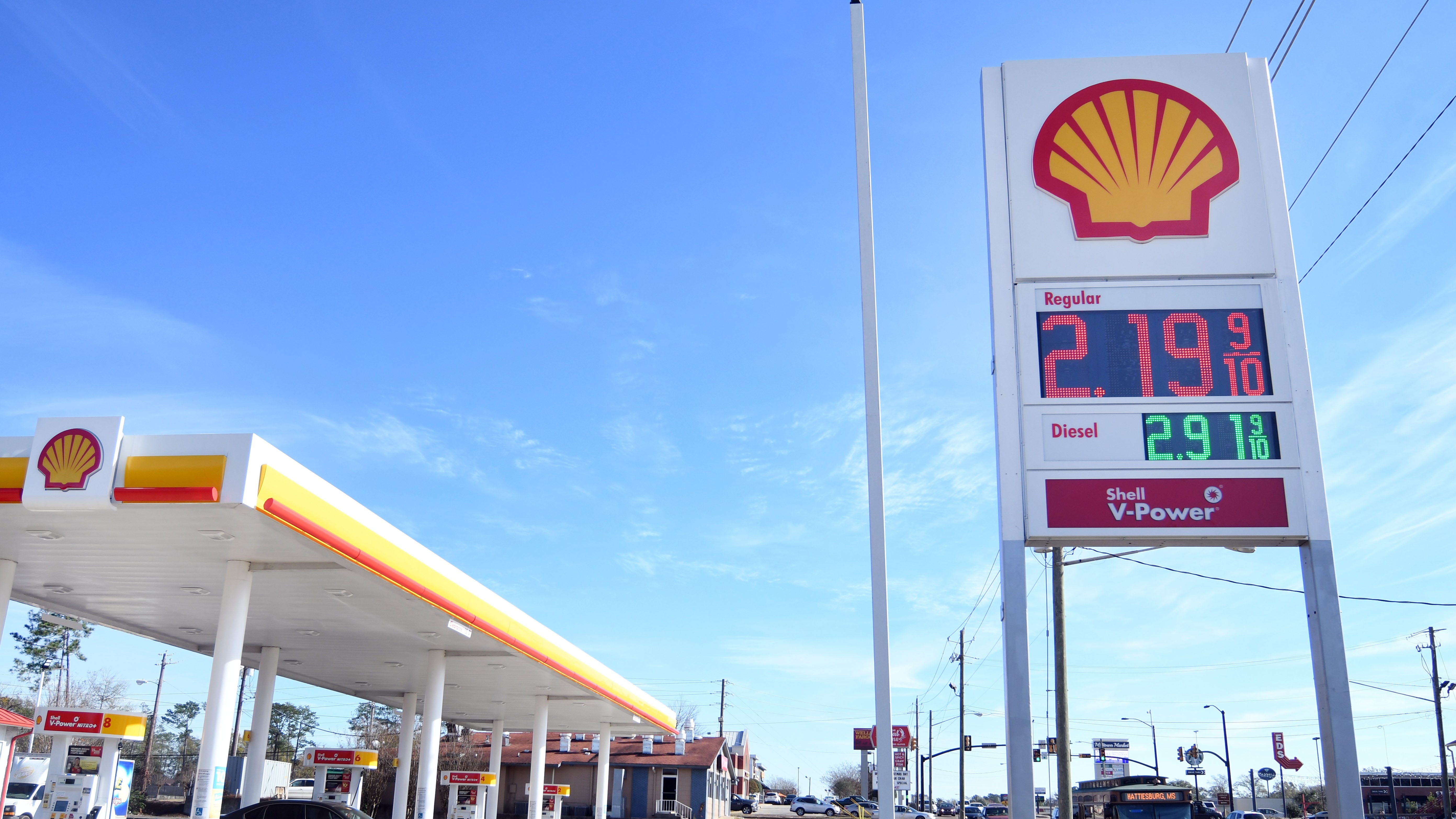 Hattiesburg gas prices are hovering above $2 per gallon for regular gasoline while the rest of the state has seen prices below $2 for at least a month.