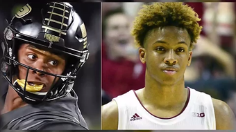The Purdue football and IU basketball stars have known each other forever