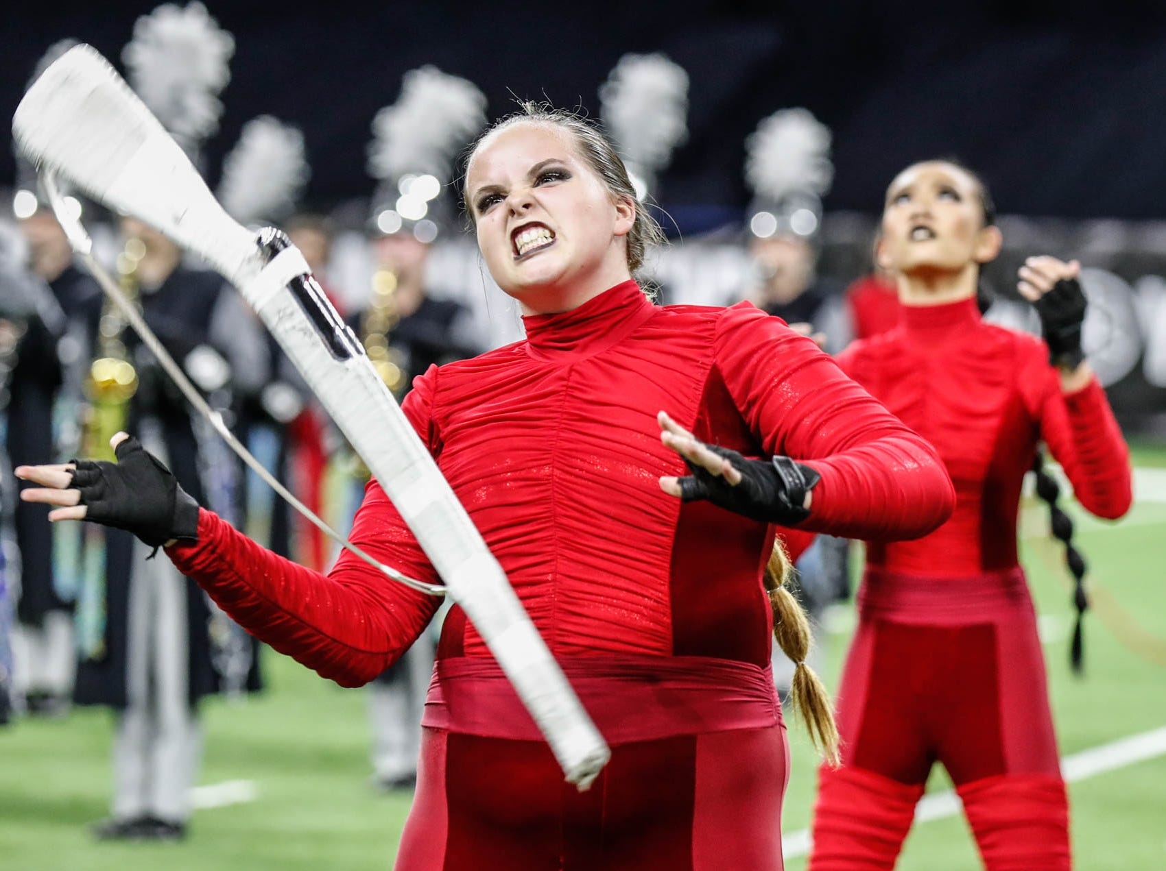 The Lakeland High School band performs during the Bands of America 2018 Grand National Championships, held at Lucas Oil Stadium in Indianapolis on Thursday, Nov. 8, 2018.
