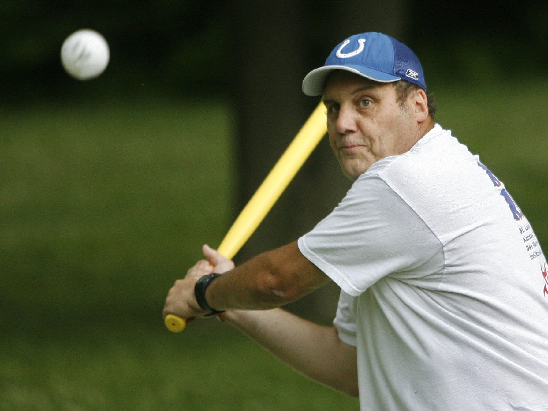 IndyStar sports writer Terry Hutchens learned about a new twist on an old game, Wiffle ball. He played it with experienced Wiffle ball players at Ellenberger Park in June of 2009.