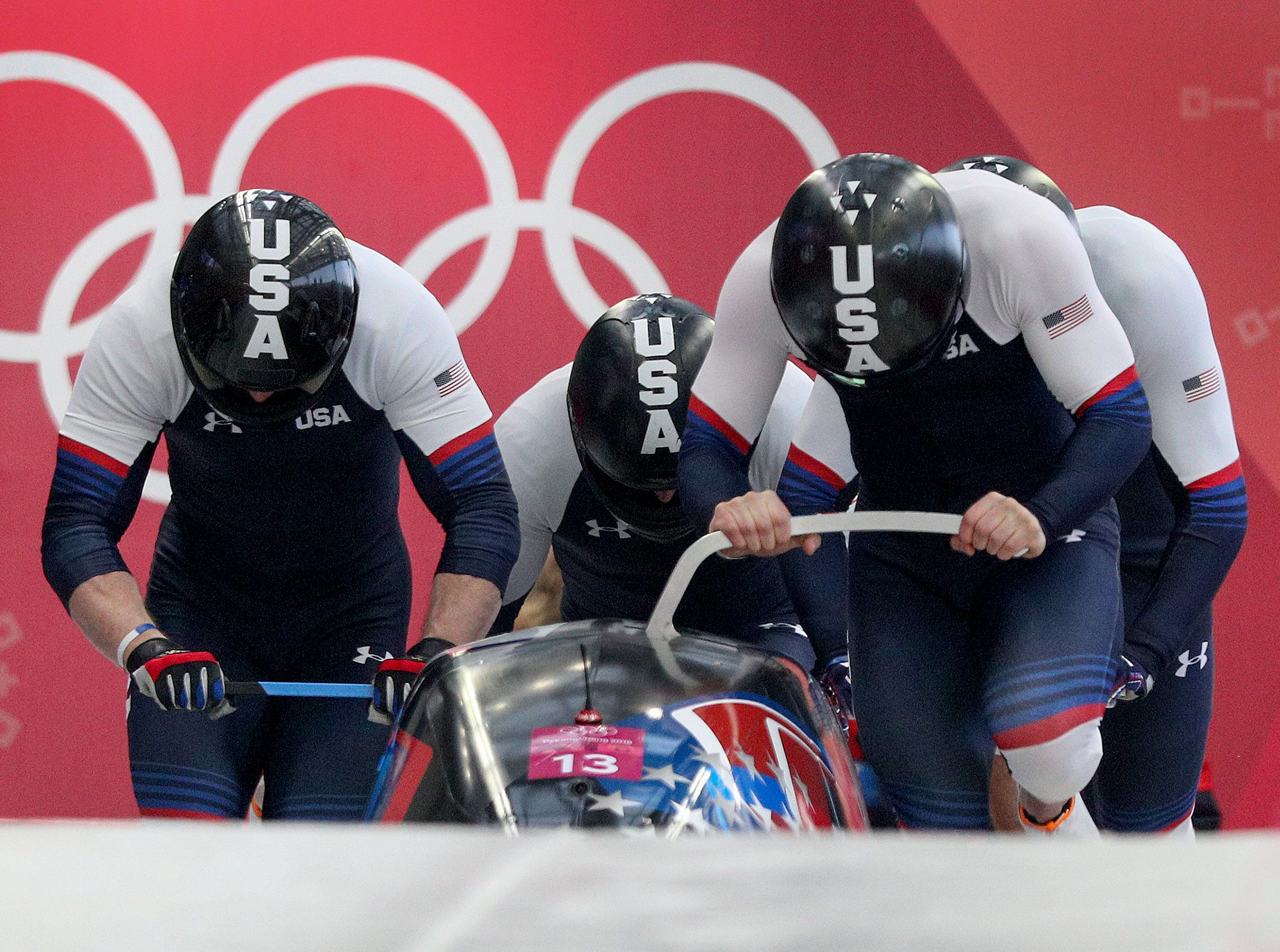Feb 24, 2018; Pyeongchang, South Korea; during the Pyeongchang 2018 Olympic Winter Games at Olympic Sliding Centre. Mandatory Credit: Matt Kryger-USA TODAY Sports
