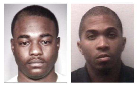 Kevin Grammer, 25, of Brownsville, and Brent Martin, 28, of Bells, are both charged with aggravated robbery, vandalism, and theft of property over $1,000 in connection to an armed robbery that occurred at a gas station near Three Way on Saturday night.