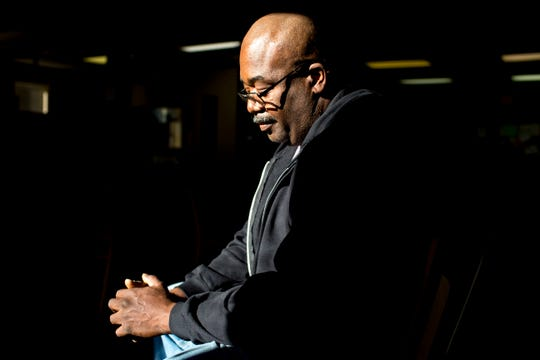 Terry Perry walked into the doors of Area Relief Ministries for the first time in 2009, and for two out of the next few years he lived out of locker 24 at Area Relief Ministries in Jackson, Tenn., on Monday, Dec. 17, 2018. After recovering from his addiction while living out of ARM he is now clean and owns his own construction business. He uses his construction business to give back by hiring those staying at ARM for work and to make sure they get payed.