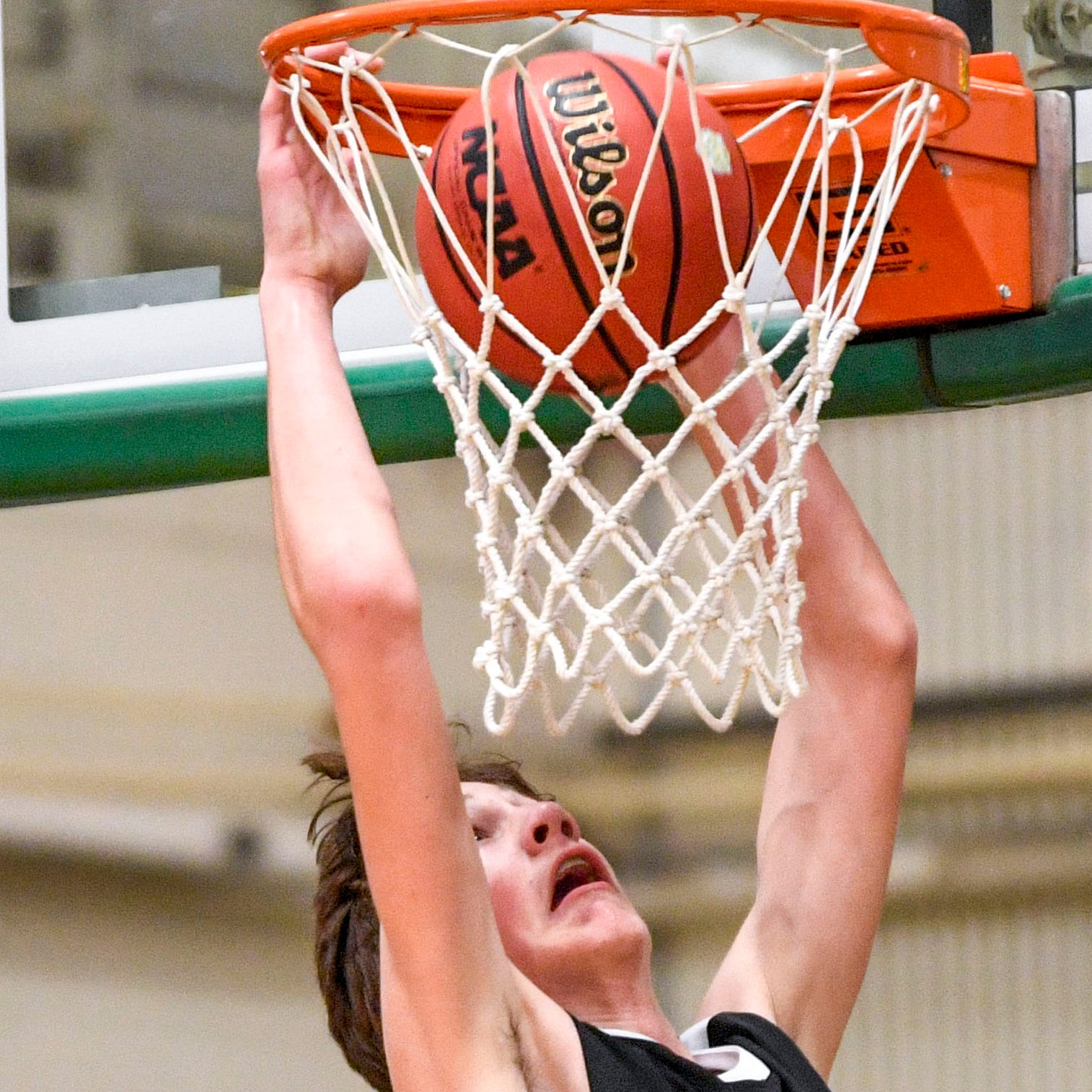 Mason Hanback, South Side's 6-foot-10 freshman, shows big potential