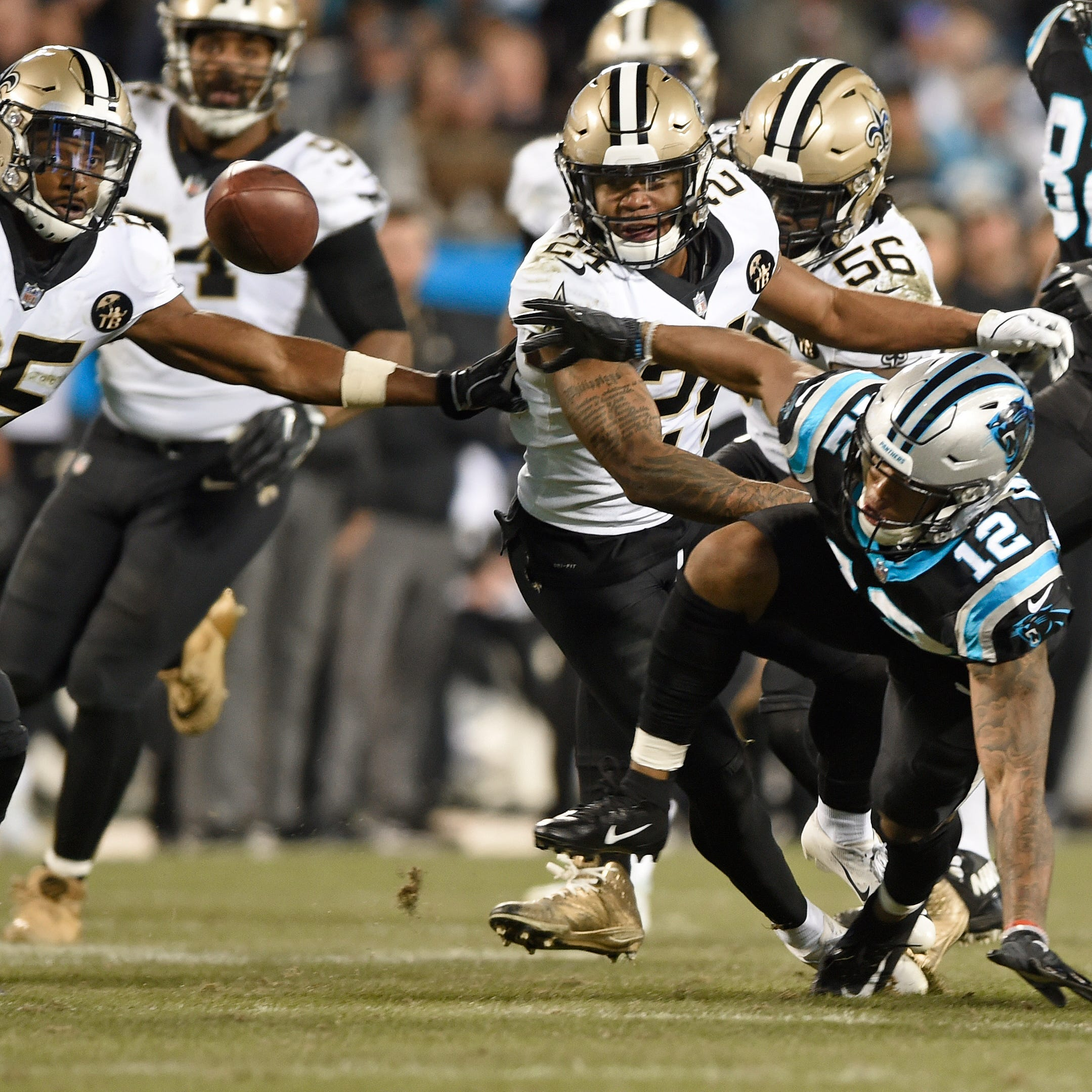 Saints' defense puts clamps on Cam Newton in 12-9 win over Panthers