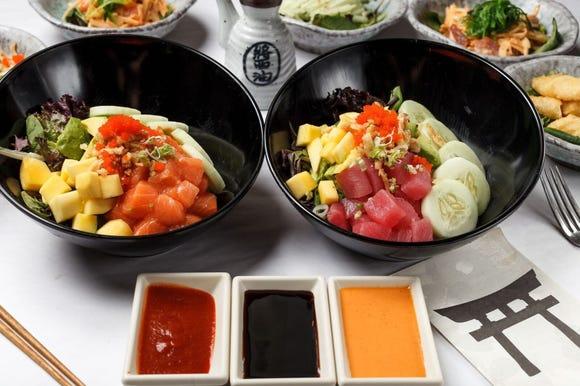Poke bowls served at Tokyo House