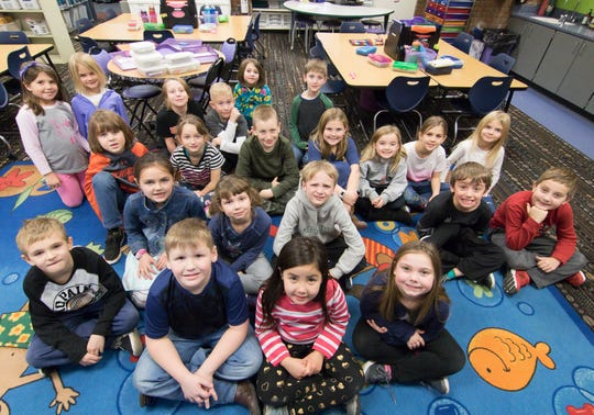 Tammy Ferguson's second graders, shown Monday, Dec. 17, 2018, at Spencer Elementary in Brighton. District officials are gauging interest in year-round school with a survey question to be emailed Jan. 19.
