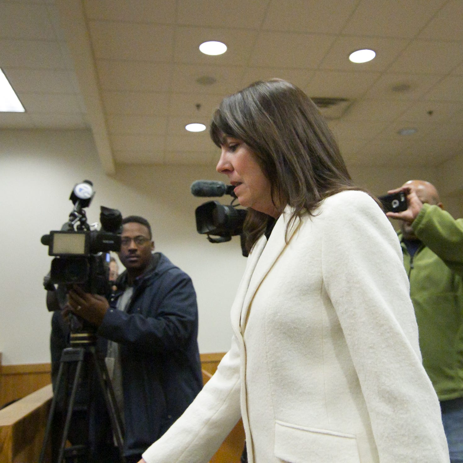 Judge Theresa Brennan arraigned on 3 felonies, released on bond