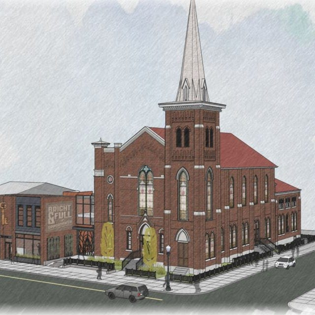 An old church in NuLu is being remodeled into an entertainment complex