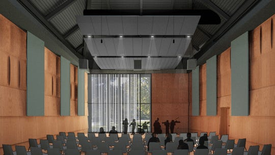 A rendering of one of the rooms being built in the new Billman Music Pavilion at MSU.