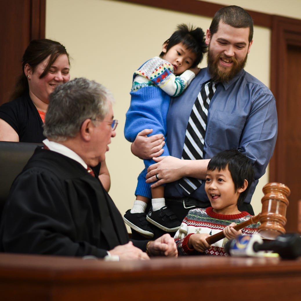'How can you not love this stuff?': Judge Economy hosts final Christmas adoptions ceremony