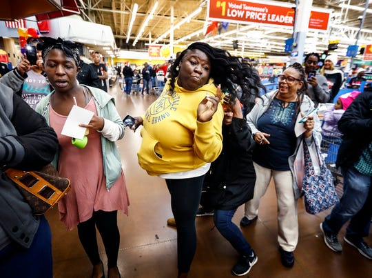 Fans wait to greet actor and comedian Marlon Wayans at the McDonalds inside the Walmart in Whitehaven.