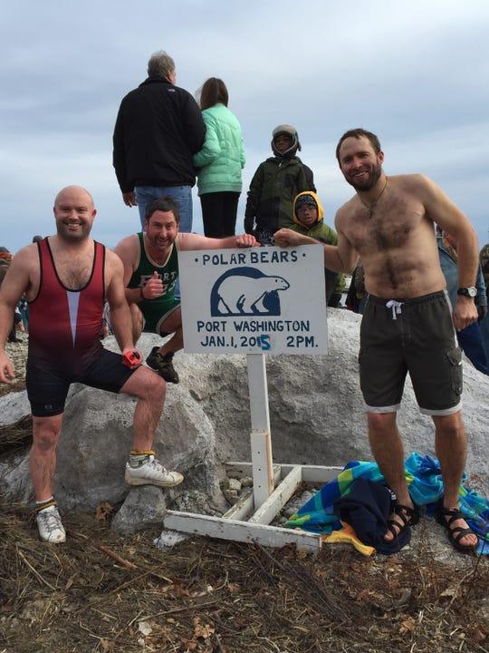 The Port Washington Polar Bear Club is organized by Brian Barber, sergeant-at-arms, Tony Matera, vice president, and Jon Crain, president.