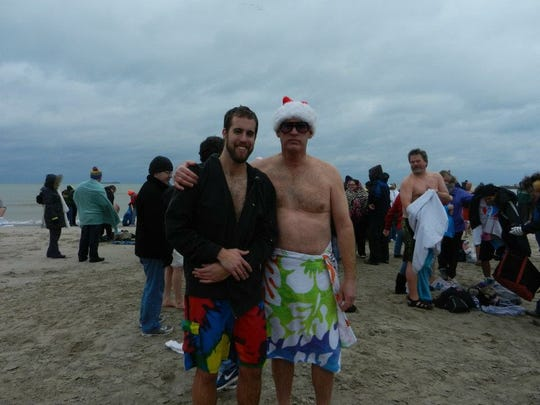 John and Chris Ingemann have done the Sheboygan Polar Bear Plunge 10 times.