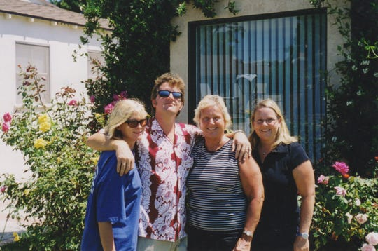 The Burrows family circa 2005: Margo Burrows (from left), Steve Burrows, Judith Burrows and Beth Burrows