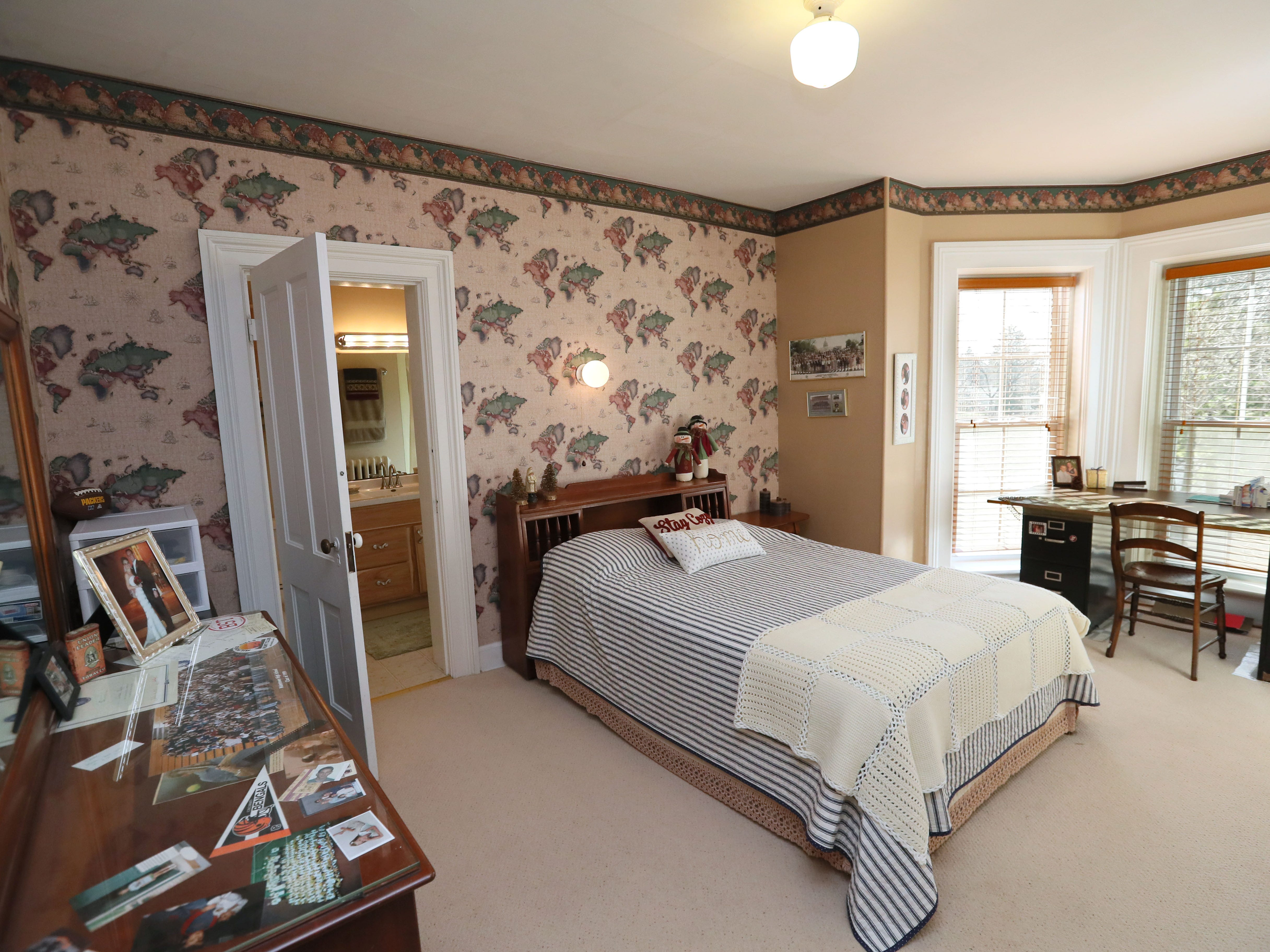 This guest bedroom once belonged to the Kelms' son.