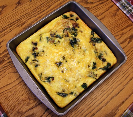 This low-carb spinach frittata from Honeybee Inn was created with the keto diet in mind.