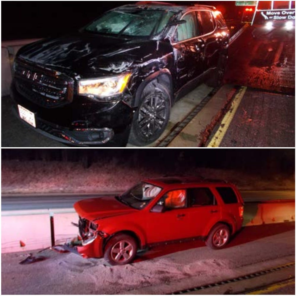 A Wauwatosa couple who were arguing in their vehicle cause a rollover crash on the freeway