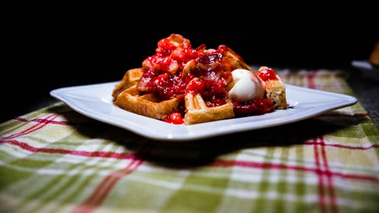 Serving waffles in chunks instead of the predictable way can spruce up a breakfast favorite.