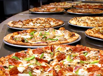 Pizza Crafters' buffet features plenty of different options which also includes pastas and salads.