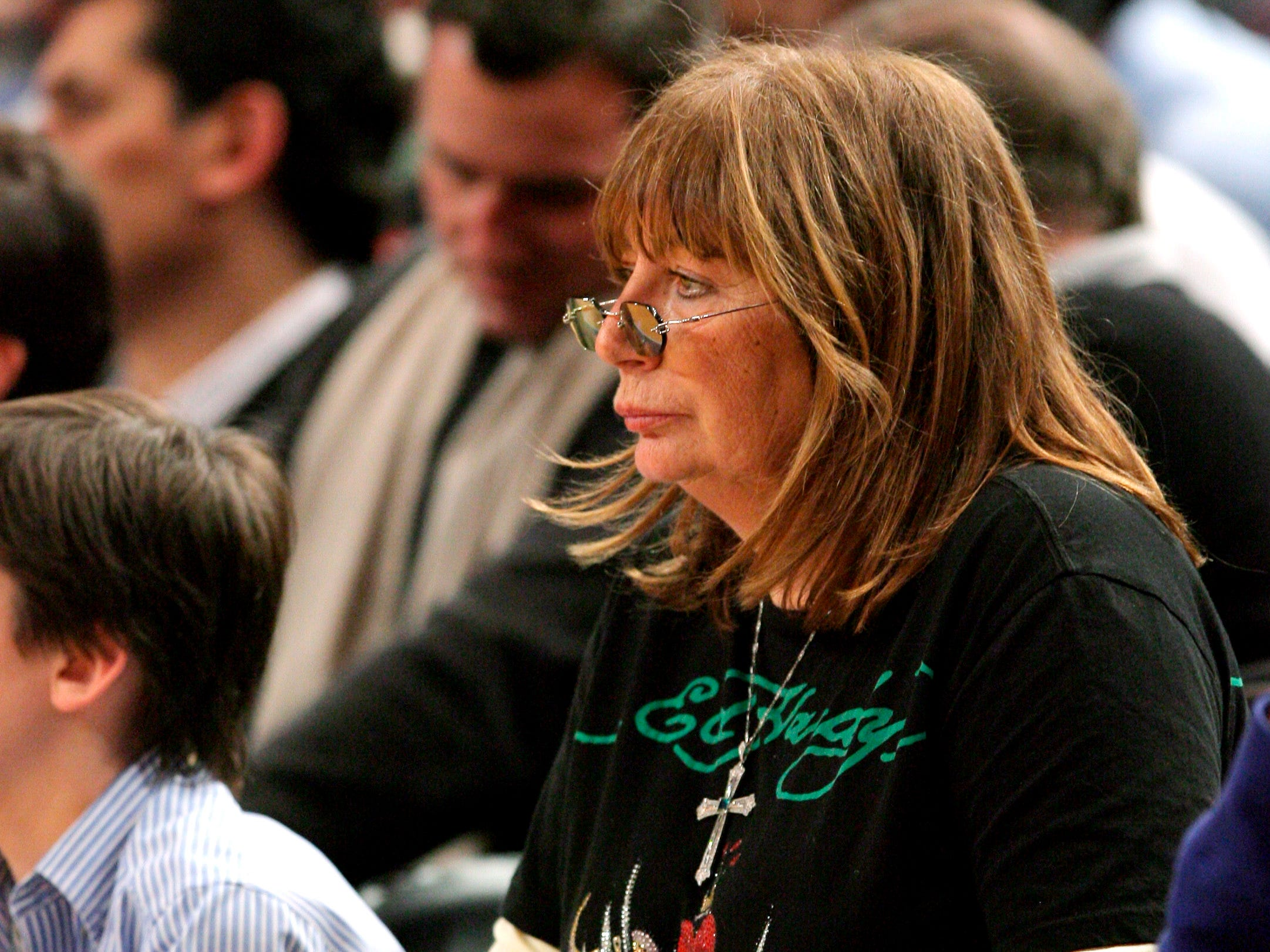 Penny Marshall watches a game between the Cleveland Cavaliers and the New York Knicks at Madison Square Garden in New York in December 2007.