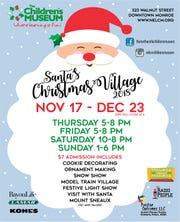 Santa's Christmas Village is this week.