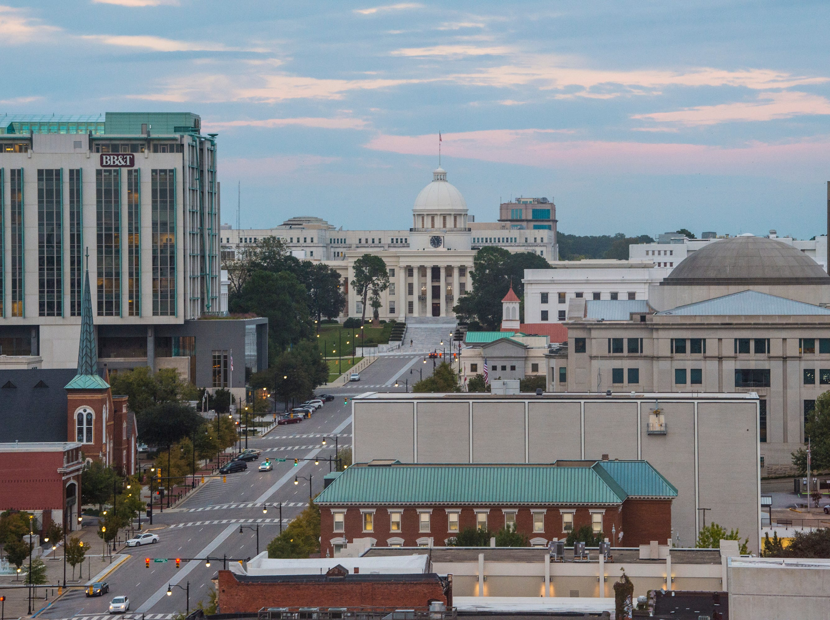 The view from Bell Lofts inside the historic Bell Building in Montgomery, Ala., on Monday, Oct. 22, 2018.
