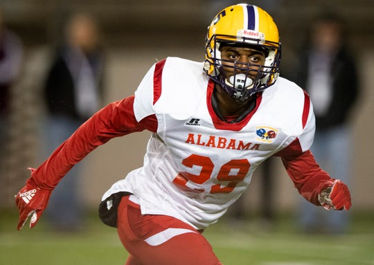 Alabama's Nehemiah Pritchett of Jackson during the Alabama Mississippi All-Star Football game held at Cramton Bowl in Montgomery, Ala., on Monday December 17, 2018.