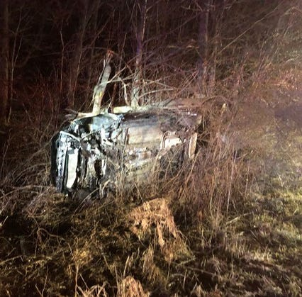 Muncie man held after four-county police chase ends with crash