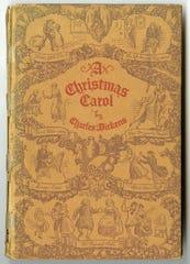 "The cover of the edition of ""A Christmas Carol"" designed for Ball Brothers Company by Richard P. Ellis"