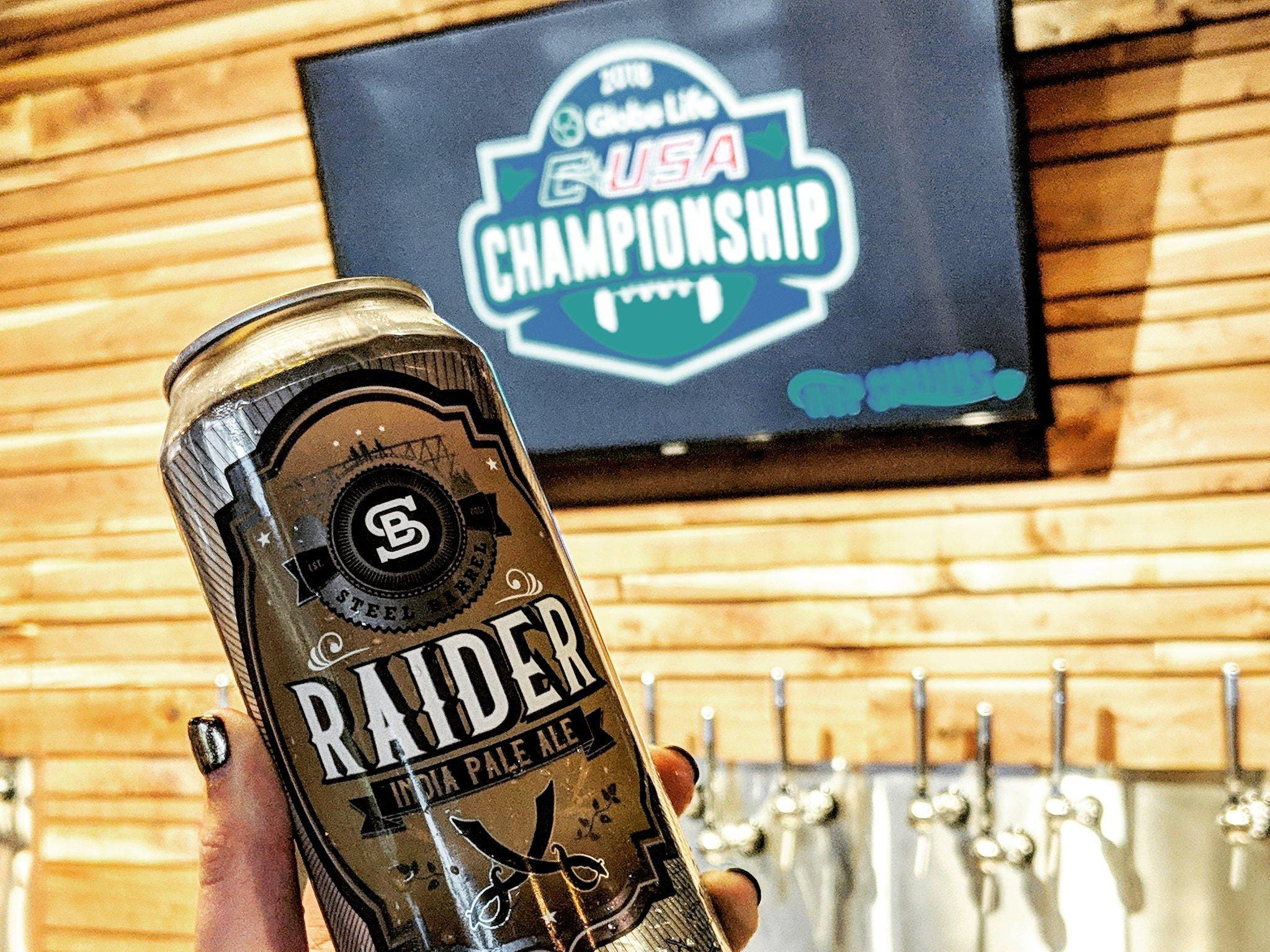 Steel Barrel's Raider India Pale Ale gives a nod to MTSU's sports teams. The university is partnering with the brewing facility and will have experiential learning labs on site.