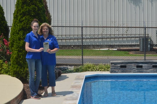 Fox Pools and Spas owner Lisa Ezell, right, and her daughter, Jessica, are the second and third generations of the business in Hendersonville, Tennessee. Ezell's parents Jesse and Darline Tharp founded the business in 1971.