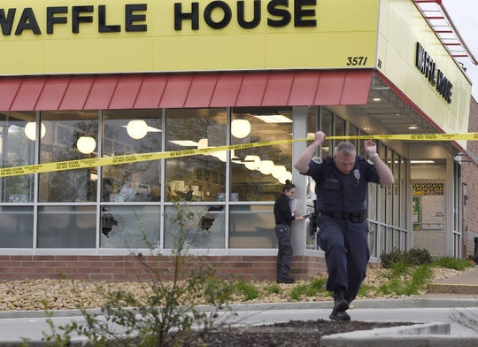 Four people died after a gunman opened fire at a Waffle House in Antioch early on Sunday in 2018, before a patron wrestled the gun away, according to Metro Nashville Police.