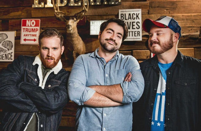 Drew Morgan, left, Trae Crowder and Corey Ryan Forrester bring their WellRED Comedy Tour to Zanies this weekend.