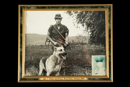 Terry Kehoe with his K-9, Prince, in Vietnam