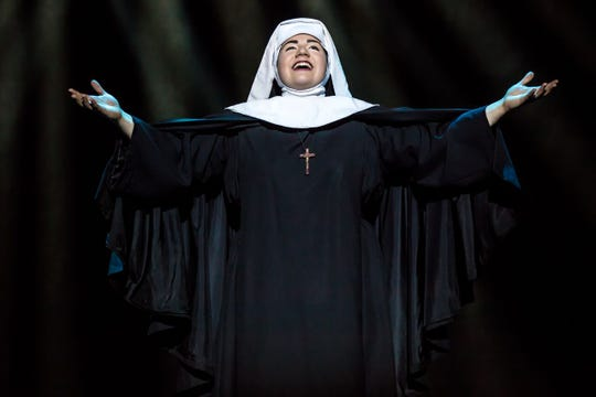 "Lauren Kidwell as Mother Abbess in a scene from the latest stage production, ""The Sound of Music."""